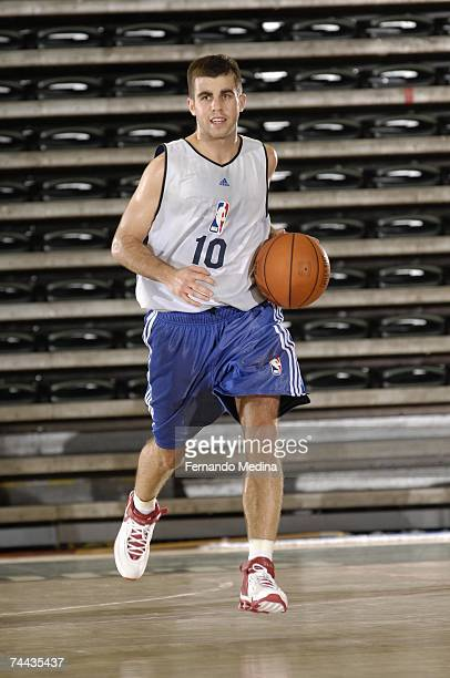 Jared Jordan moves the ball up court during day two of the 2007 NBA Pre-Draft Camp on May 31, 2007 at Disney's Wide World of Sports Milk House in...