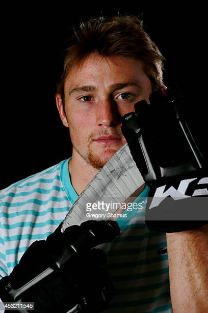 Jared Knight of the Boston Bruins poses for an NHLPA The Players Collection portrait at The Westin Harbour Castle hotel on August 27 2012 in Toronto...