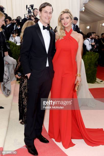 Jared Kushner and Ivanka Trump attend Costume Institute Benefit at The Met Celebrates Opening of 'Manus x Machina' Exhibition at The Metropolitan...