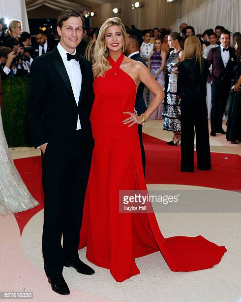 Jared Kushner and Ivanka Trump attend Manus x Machina Fashion in an Age of Technology the 2016 Costume Institute Gala at the Metropolitan Museum of...