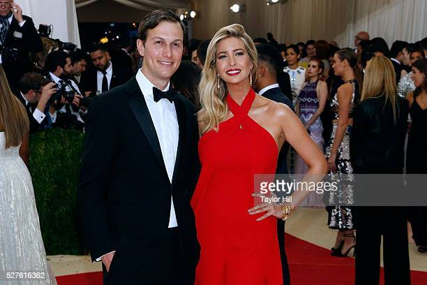 Jared Kushner and Ivanka Trump attend 'Manus x Machina Fashion in an Age of Technology' the 2016 Costume Institute Gala at the Metropolitan Museum of...
