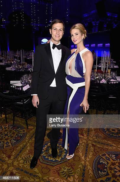 Jared Kushner and Ivanka Trump attend the 2015 amfAR New York Gala at Cipriani Wall Street on February 11 2015 in New York City