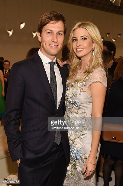 Jared Kushner and Ivanka Trump attend the Valentino Sala Bianca 945 Event on December 10 2014 in New York City