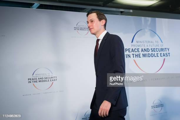 Jared Kushner before the second day of an international conference devoted to peace and security in the Middle East organised by Poland and the USA...