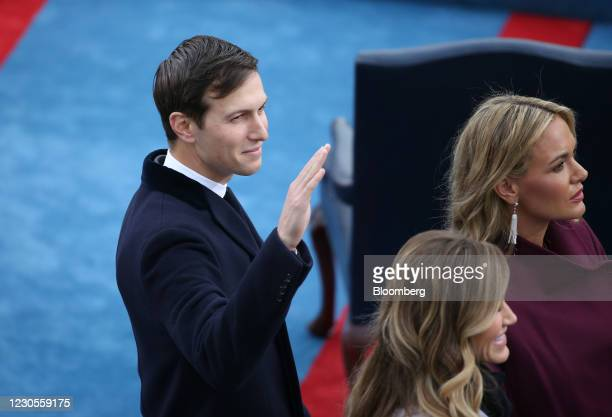 Jared Kushner, chairman of Observer Media Group, arrives for the 58th presidential inauguration in Washington, D.C., U.S., on Friday, Jan. 20, 2017....