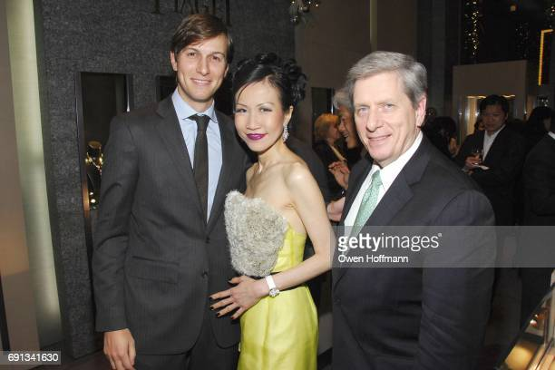 Jared Kushner ChiuTi Jansen and Larry Boland attend the PIAGET and ChiuTi Jansen Publisher of YUE MAGAZINE Host Limelight Collections Launch Party at...
