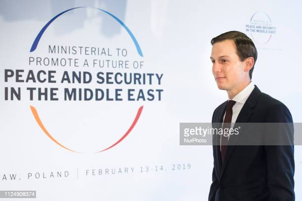 Jared Kushner during Peace and Security in the Middle East conference in Warsaw on February 14 2019
