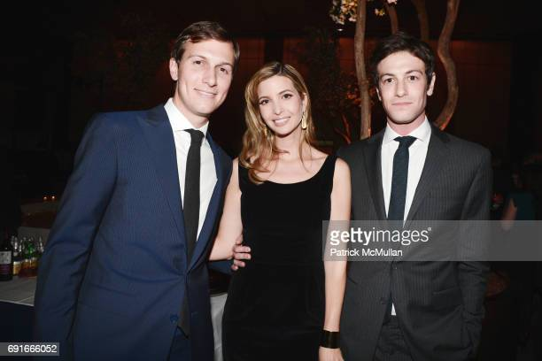 Jared Kushner Ivanka Trump and Joshua Kushner attend The New York Observer 25th Anniversary at Four Seasons Restaurant on March 14 2013 in New York...