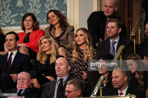 Jared Kushner Ivanka Trump Lara Trump and Eric Trump attend the State of the Union address in the chamber of the US House of Representatives at the...