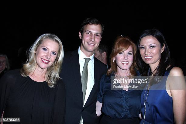 Jared Kushner Liz Claman and Wendi Deng attend A Celebration for the Launch of THE FOX BUSINESS NETWORK at Temple of Dendur on October 24 2007 in New...