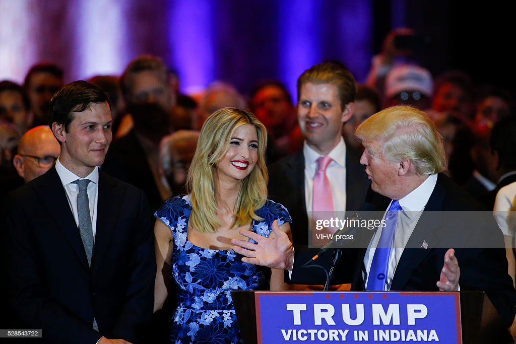 GOP Presidential Candidate Donald Trump Holds Indiana Primary Night Gathering In New York : News Photo