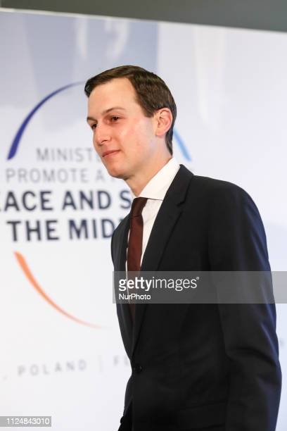 Jared Kushner Middle East Adviser in Donald Trump administration arrives to the National Stadium in Warsaw Poland during the international summit...