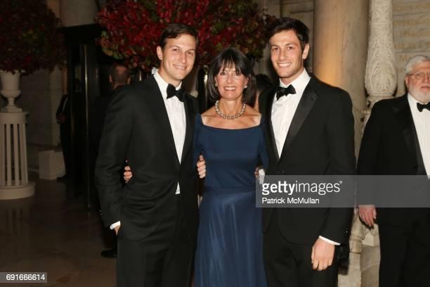 Jared Kushner Seryl Kushner and Joshua Kushner attend 2014 Library Lions Gala at The Stephen A Schwarzman Building on November 3 2014 in New York City