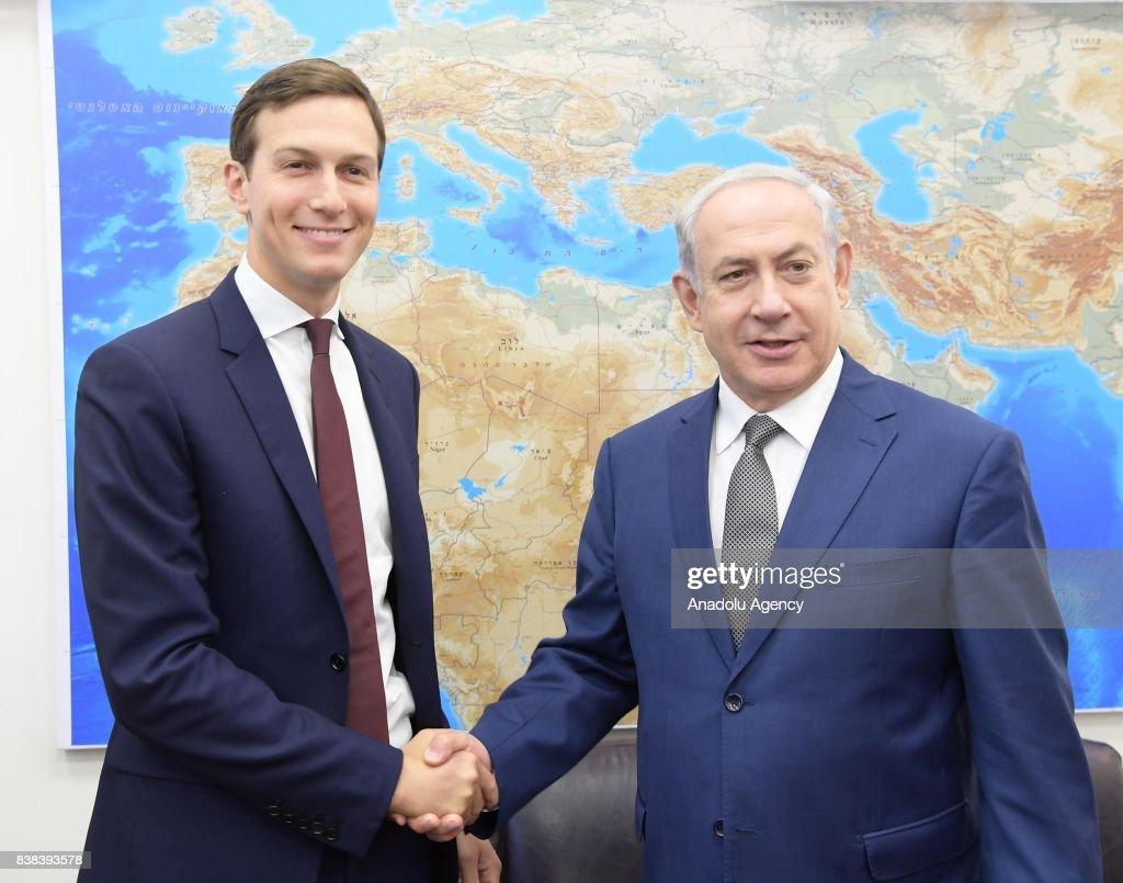 Jared Kushner meets Israeli PM Netanyahu in Jerusalem : News Photo