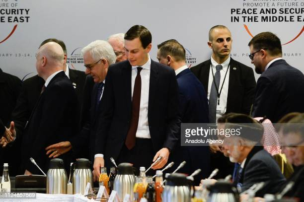 Jared KushnerSenior Advisor to the US President and soninlaw during the opening of the plenary session at the Ministerial to Promote a Future of...