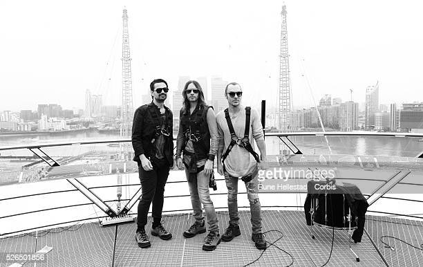 Jared Leto and 30 Seconds To Mars attend a photo call on top of the roof at O2 Arena