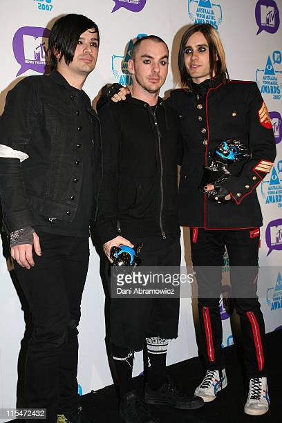 Jared Leto and 30 Seconds to Mars during MTV Australia Video Music Awards 2007 GreenRoom at SuperDome in Sydney NSW Australia