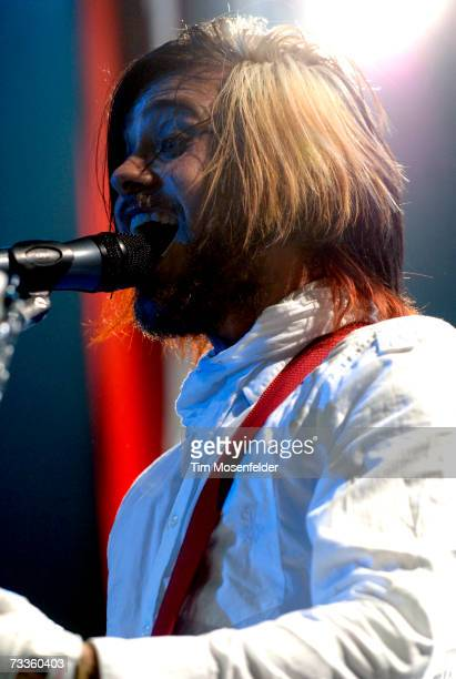 Jared Leto and 30 Seconds to Mars perform as part of the Taste of Chaos Tour 2007 at the Bill Graham Civic Auditorium on February 17 2007 in San...