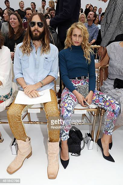 Jared Leto and Alice Dellal attend the Chanel show as part of Paris Fashion Week Haute Couture Fall/Winter 20142015 at Grand Palais on July 8 2014 in...