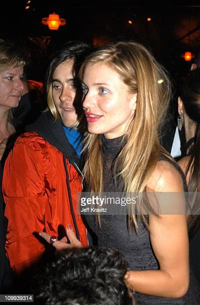 Jared Leto and Cameron Diaz during Miramax 2003 Golden Globes Party Sponsored by Glamour Magazine and Coors at Trader Vic's in Beverly Hills CA...