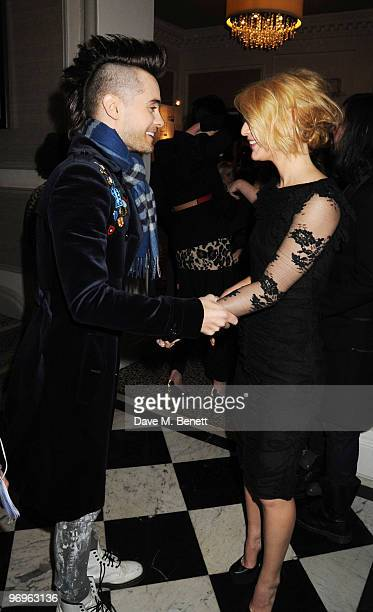 Jared Leto and Claire Danes arrive at the ELLE Style Awards 2010 at the Grand Connaught Rooms on February 22 2010 in London England