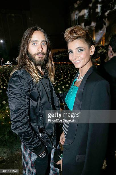 Jared Leto and Clotilde Courau attend the Bulgari Cocktail Event At Apicius as part of Paris Fashion Week at Apicius on July 8, 2014 in Paris, France.
