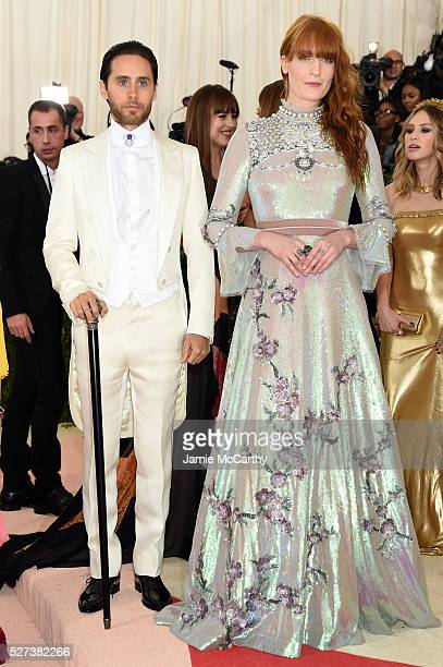 """Jared Leto and Florence Welch attend the """"Manus x Machina: Fashion In An Age Of Technology"""" Costume Institute Gala at Metropolitan Museum of Art on..."""