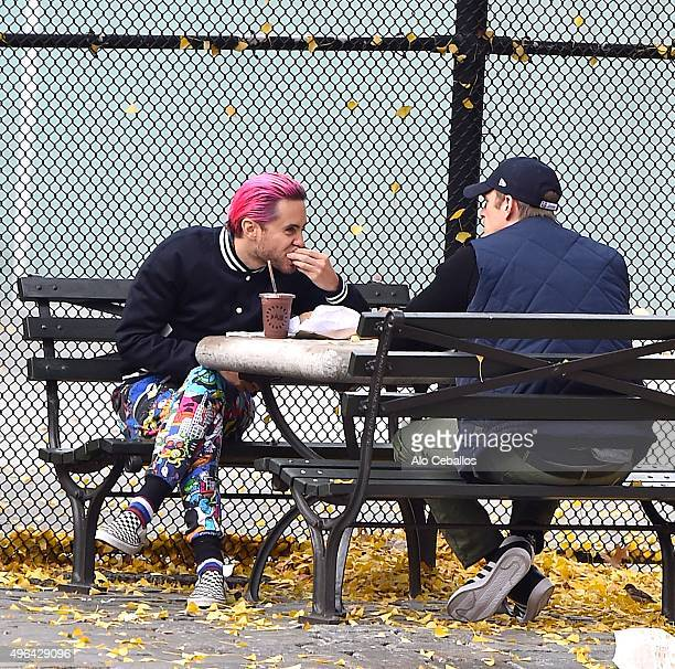 Jared Leto and Joel Kinnaman are seen in Soho on November 9 2015 in New York City