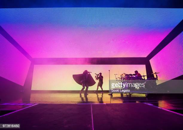 Jared Leto and Shannon Leto of Thirty Seconds To Mars perform at DTE Energy Music Theater on June 12 2018 in Clarkston Michigan