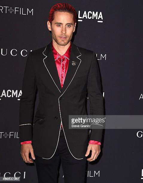 Jared Leto arrive at the LACMA 2015 ArtFilm Gala Honoring James Turrell And Alejandro G Inarritu Presented By Gucci at LACMA on November 7 2015 in...