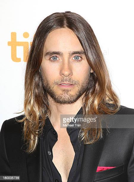 Jared Leto arrives at the Dallas Buyers Club premiere during the 2013 Toronto International Film Festival held at Princess of Wales Theatre on...