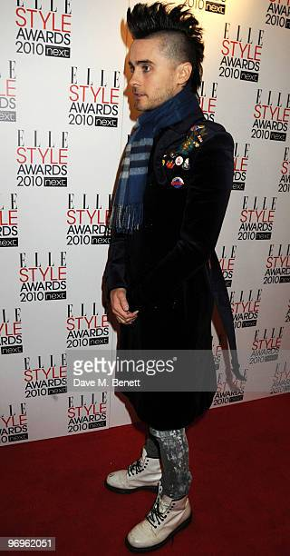 Jared Leto arrives at the ELLE Style Awards 2010 at the Grand Connaught Rooms on February 22 2010 in London England