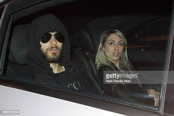 Jared Leto arriving at Claridges Hotel on August 2 2016 in London England
