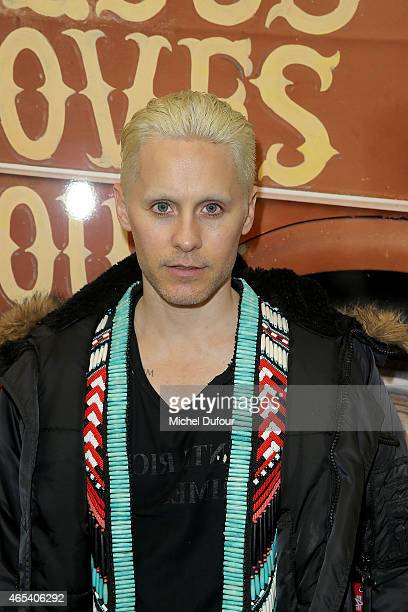 Jared Leto attends Art Exhibition At Galerie Perrotin as part of the Paris Fashion Week Womenswear Fall/Winter 2015/2016 on March 6, 2015 in Paris,...