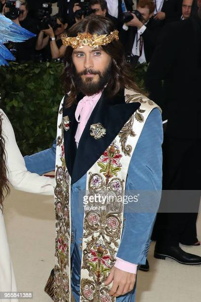 Jared Leto attends 'Heavenly Bodies Fashion the Catholic Imagination' the 2018 Costume Institute Benefit at Metropolitan Museum of Art on May 7 2018...