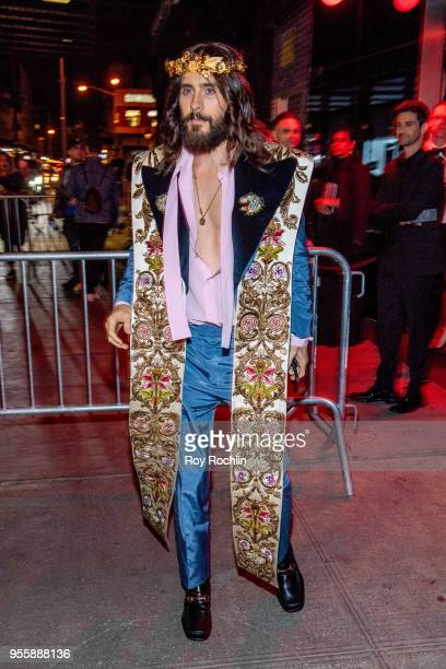 Jared Leto attends Heavenly Bodies Fashion The Catholic Imagination Costume Institute Gala after party at the Standard Hotel on May 7 2018 in New...