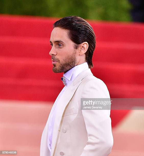 Jared Leto attends 'Manus x Machina Fashion in an Age of Technology' Costume Institute Gala at Metropolitan Museum of Art on May 2 2016 in New York...
