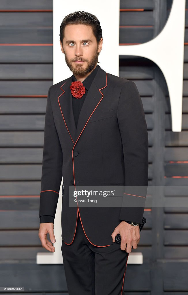 Jared Leto attends the 2016 Vanity Fair Oscar Party Hosted By Graydon Carter at Wallis Annenberg Center for the Performing Arts on February 28, 2016 in Beverly Hills, California.
