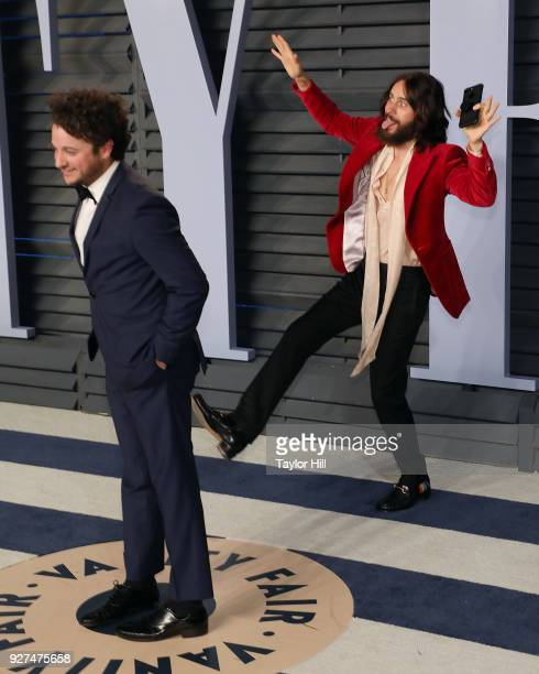 Jared Leto attends the 2018 Vanity Fair Oscar Party hosted by Radhika Jones at the Wallis Annenberg Center for the Performing Arts on March 4 2018 in...