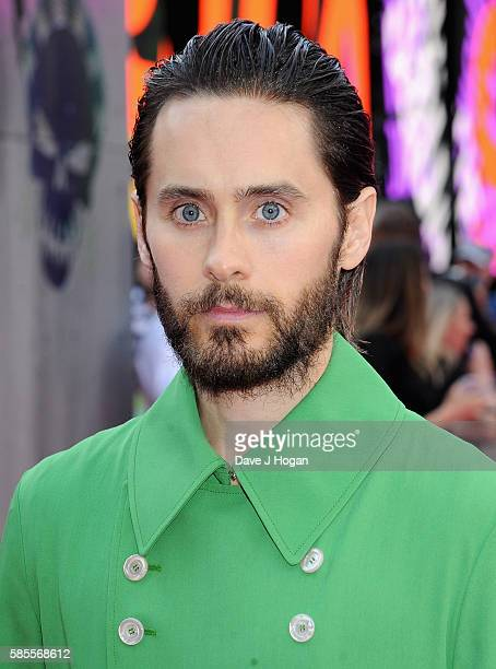 Jared Leto attends the European Premiere of 'Suicide Squad' at Odeon Leicester Square on August 3 2016 in London England