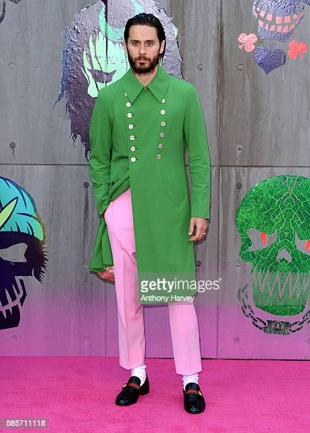 """Jared Leto attends the European Premiere of """"Suicide Squad"""" at Odeon Leicester Square on August 3, 2016 in London, England."""