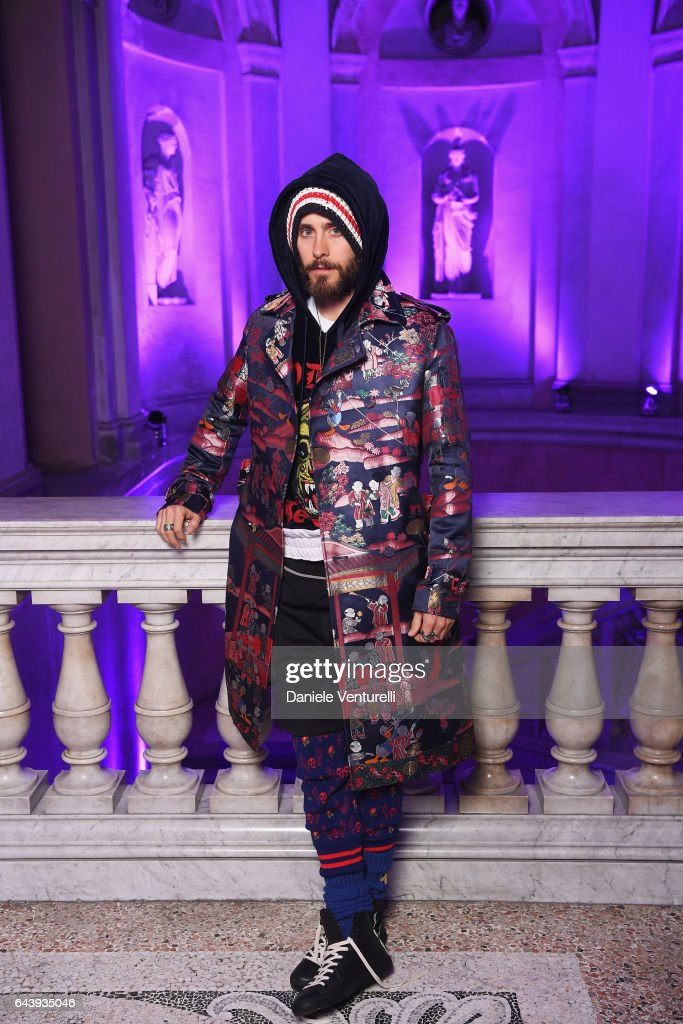 Jared Leto attends the Gucci event during Milan Fashion Week Fall/Winter 2017/18 on February 22, 2017 in Milan, Italy.