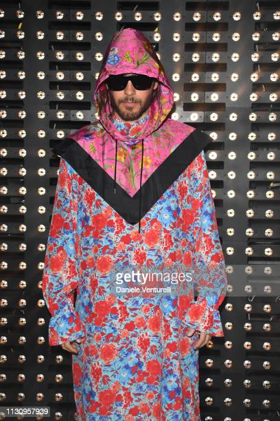Jared Leto attends the Gucci show during Milan Fashion Week Autumn/Winter 2019/20 on February 20 2019 in Milan Italy