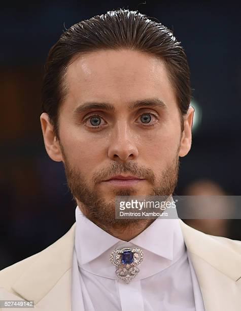 Jared Leto attends the 'Manus x Machina Fashion In An Age Of Technology' Costume Institute Gala at Metropolitan Museum of Art on May 2 2016 in New...