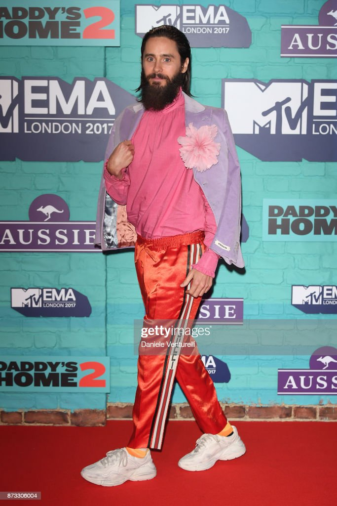 Jared Leto attends the MTV EMAs 2017 held at The SSE Arena, Wembley on November 12, 2017 in London, England.