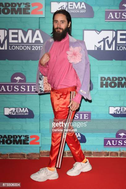 Jared Leto attends the MTV EMAs 2017 held at The SSE Arena Wembley on November 12 2017 in London England