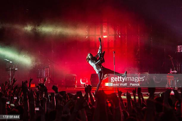 Jared Leto from 30 Seconds to Mars performs at Grand Palais on July 9, 2013 in Paris, France.