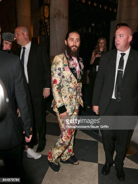 Jared Leto is seen attending Harper's BAZAAR Celebration of 'ICONS By Carine Roitfeld' at The Plaza Hotel on September 08 2017 in New York City