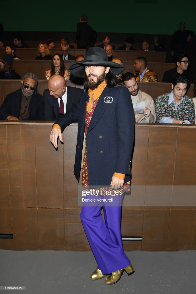 Gucci - Front Row - Milan Menswear Fashion Week Fall/Winter 2020/21 : News Photo