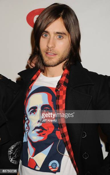 Jared Leto of 30 Seconds To Mars arrives for the 2008 MTV Europe Music Awards held at at the Echo Arena on November 6 2008 in Liverpool England